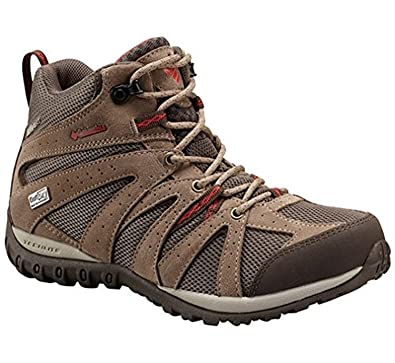 Columbia Damen Grand Canyon Mid Outdry Trekking-& Wanderhalbschuhe, Multicolor (Mud/Poppy Red), 39.5 EU