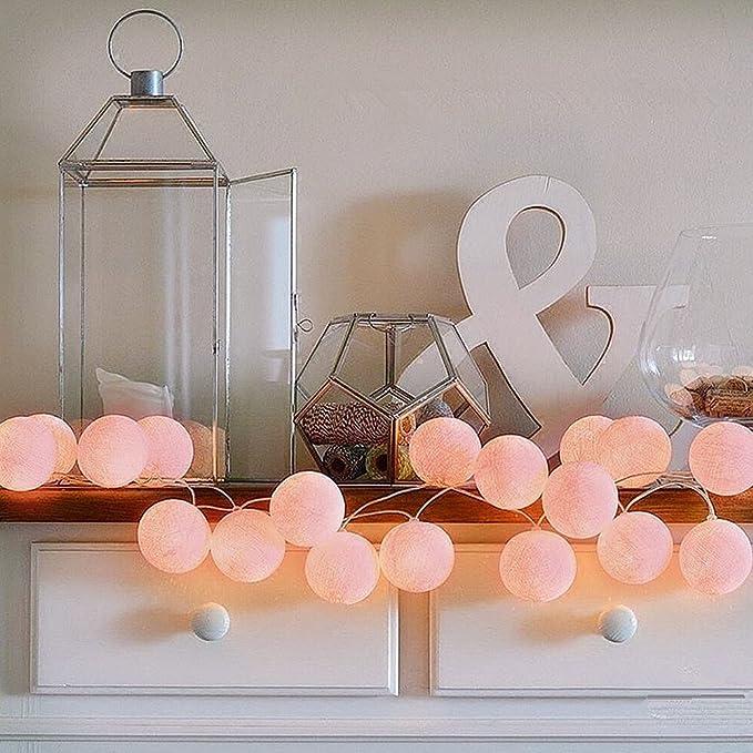 ELINKUME® LED cadena ligera con 20 bolas de algodón, De color ...