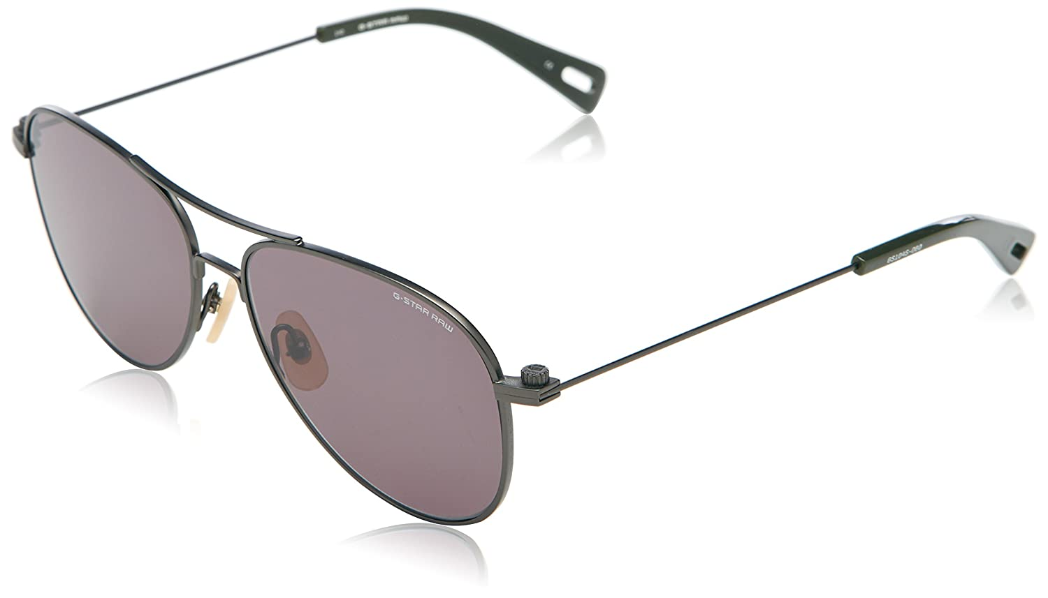 e79750c6e5 G-Star GS104S Metal Sniper Aviator Sunglasses 55mm  Amazon.co.uk  Clothing