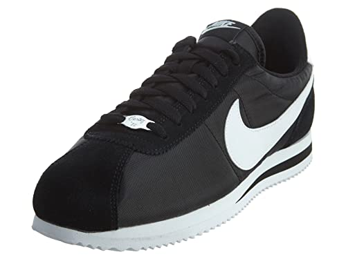 pretty nice 2a063 ded89 Nike Men s Cortez Basic Nylon Black White Metallic Silver Casual Shoe 7.5  Men US  Buy Online at Low Prices in India - Amazon.in