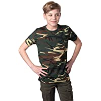 Mivaro Camiseta de Camuflaje para Niños, Camiseta Militar