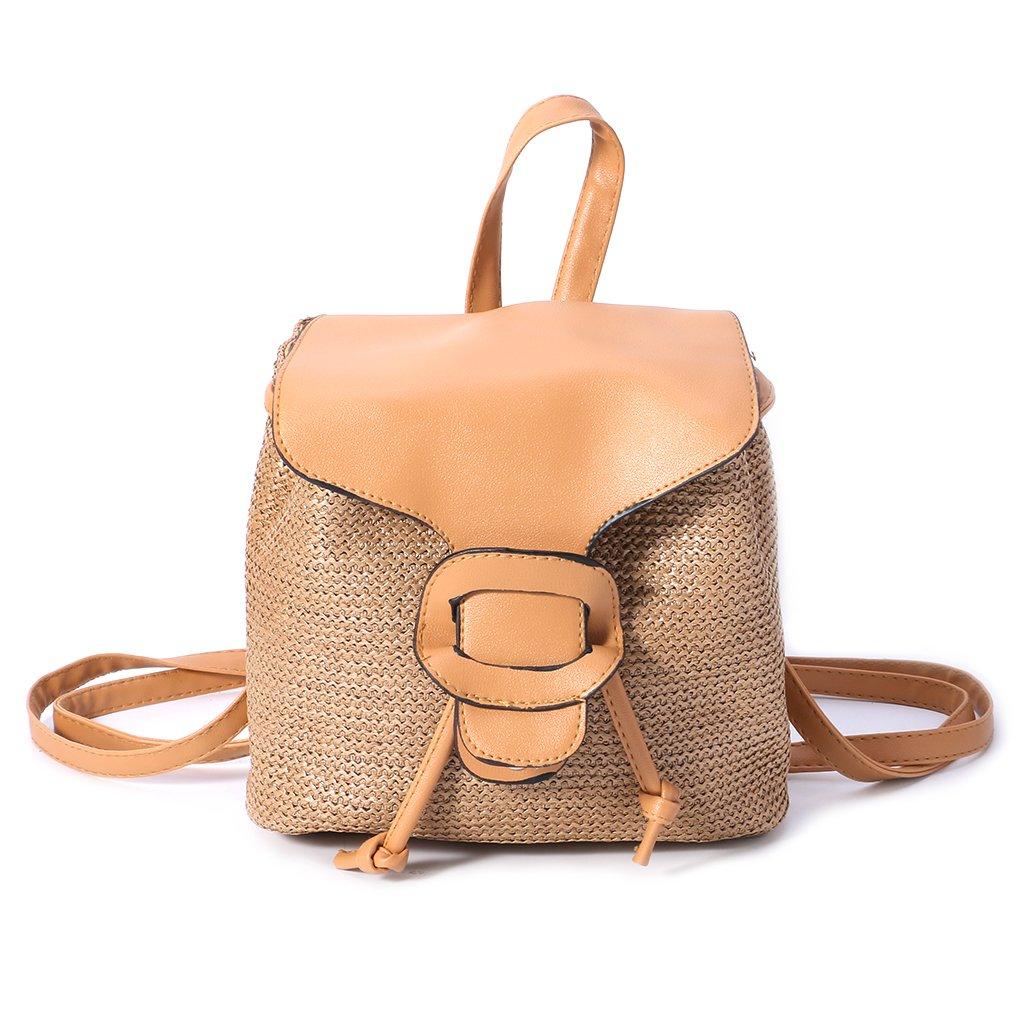 LoXTong Fashion Women Girls Woven Backpack Travel School Bag Rucksack Shoulder Bagpack