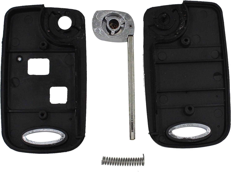 Keyfobworld for Toyota Yaris Carina Corolla Avensis Conversion Remote Flip Key FOB 2 Button