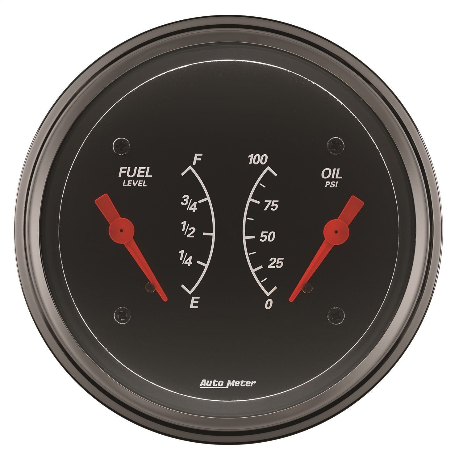 Auto Meter 1434 Designer Black Oil/Fuel Dual Gauge