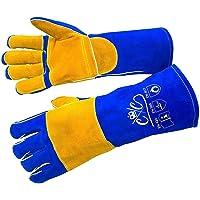 Premium Leather Welding Gloves   Heat Fire Resistant Welders Glove   Mig Welding Gloves  Oven-Grill-Fireplace-Furnace…