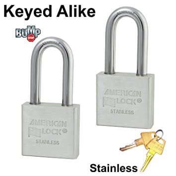 Master/American candado – 2 # de acero inoxidable sólido de alta seguridad cerraduras a6461nka