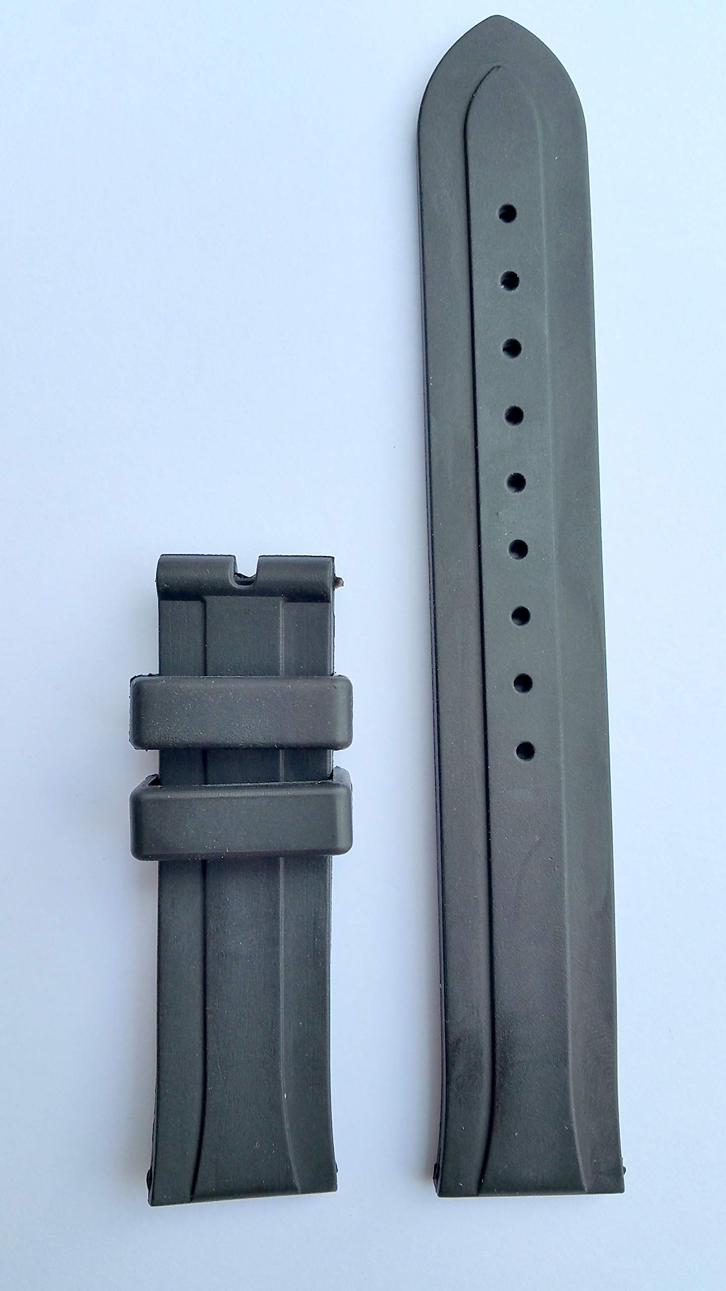 Tudor 20mm Black Rubber Watch Strap Band