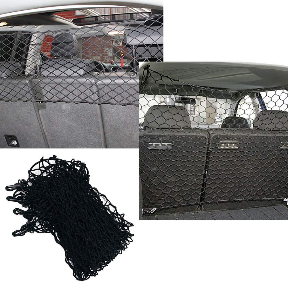 Car Pet Barrier Mesh Car Barrier Auto Trunk Rear Cargo Organizer Elastic Mesh Net Holder Pet Net Vehicle Safety Mesh Barrier