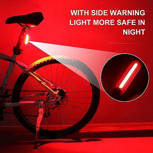 Luz trasera de la bicicleta, Luces de bicicleta impermeables de alta calidad Luz trasera de la bicicleta Luz trasera Lámpara antorcha LED Luz de bicicleta ...