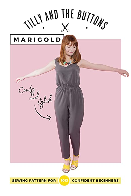 e9587d71b7 Tilly and the Buttons Marigold Jumpsuit & Trousers Sewing Pattern:  Amazon.co.uk: Kitchen & Home