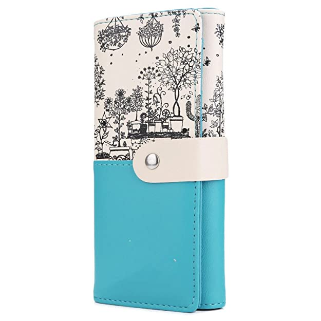 KEBINAI Women Gift Clutch Wallet PU Leather Print Purses Hasp Long Wallet Female Money Bags Handbag Carteras Mujer Monederos BlackOne Size: Handbags: ...