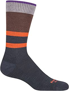 product image for Farm to Feet Petaluma Stripe Crew Socks, Green Gables/Turkish Coffee, Medium