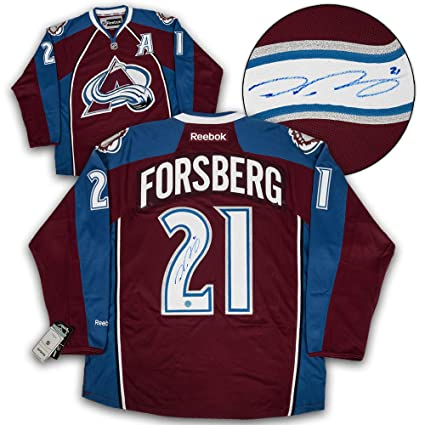 Image Unavailable. Image not available for. Color  Peter Forsberg Colorado  Avalanche Autographed Reebok Premier Hockey Jersey ... c371e851a55