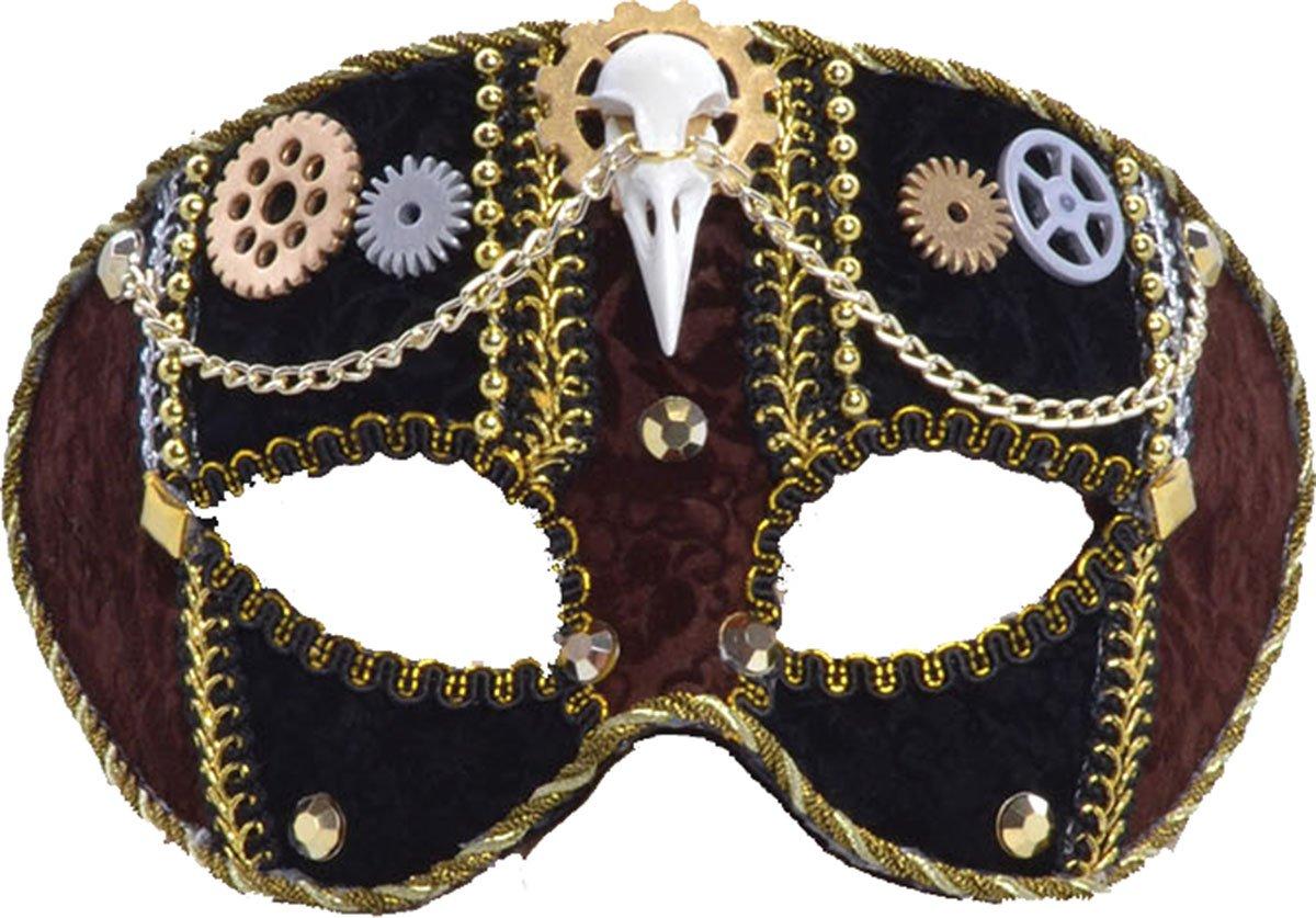 Black & Gold Ladies Steampunk Eye Mask