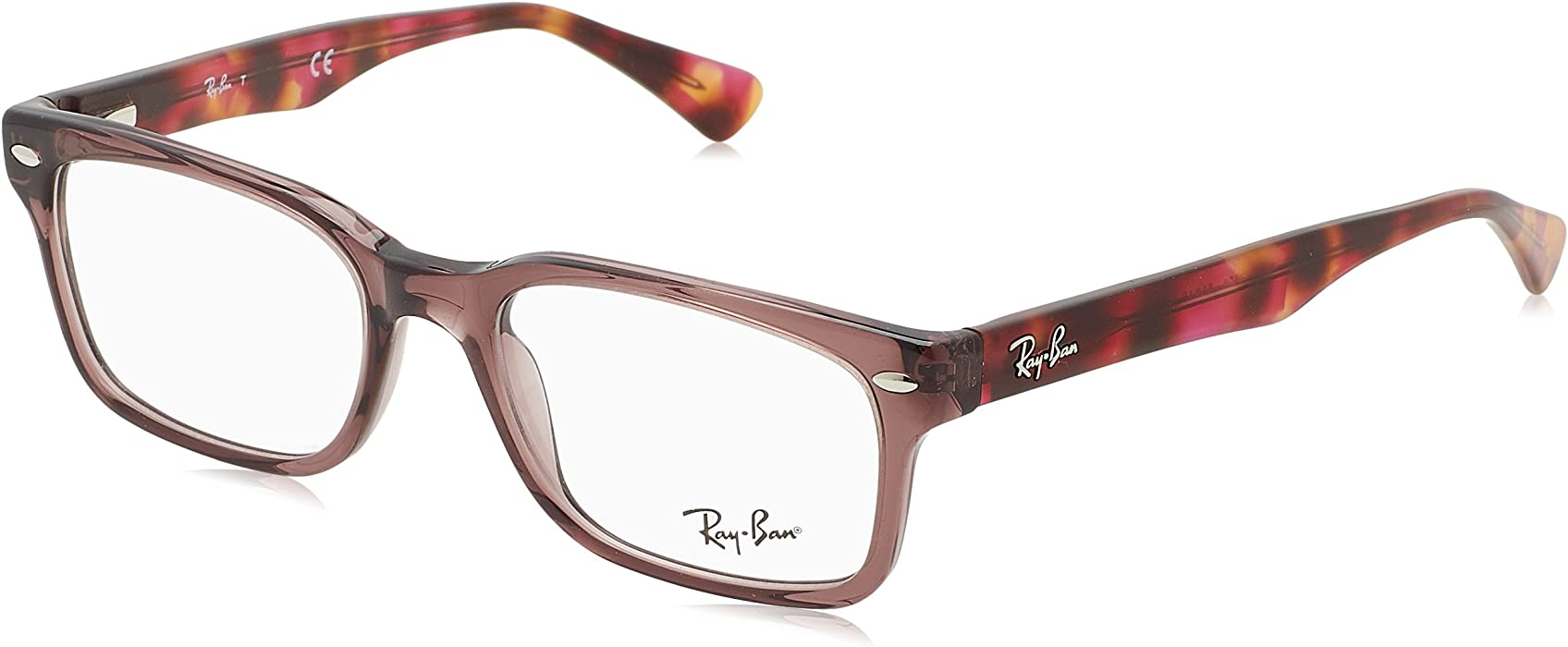 63202ab06a0 Ray-Ban Women s 0rx5286 No Polarization Square Prescription Eyewear Frame  Shiny Opal Brown 51 mm