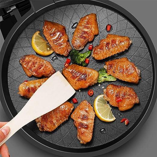 WCJ Pizza de la Crepe máquina de múltiples Funciones Oyster Tortilla Haciendo sartén máquina, Desmontable Alto y Bajo Grill Pan, fácil de Limpiar: Amazon.es