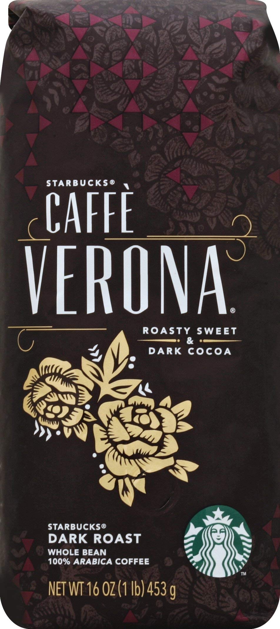 Starbucks Caffe Verona 1 lb. Whole Bean Coffee Whole Bean