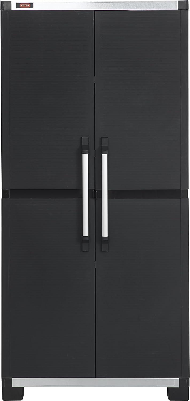 Allibert 224278 - Armario de artículos XL Pro (88 x 45 x 187 cm) Negro