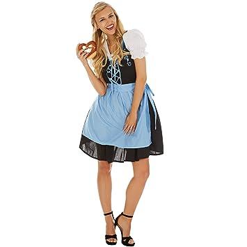 TecTake dressforfun Disfraz de Dirndl Oktoberfest Madl para ...