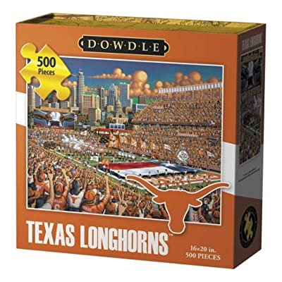 Dowdle Folk Art Texas Longhorns Jigsaw Puzzle (500 Pieces): Toys & Games
