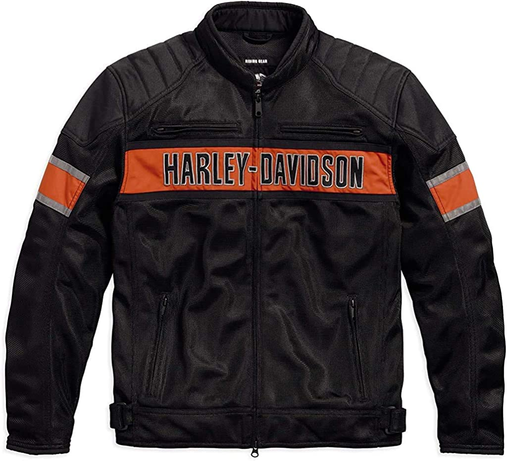 Harley-Davidson Mens Trenton Mesh Riding Jacket