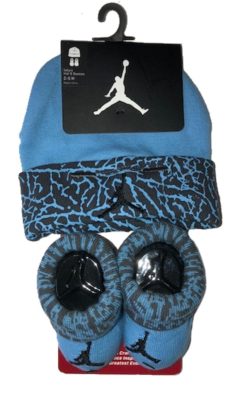 cd89a6b8561 Boys  Infant Nike Jordan Elephant Print Hat Bootie Set Soft cotton. Color   Blue Grey Size  Infant