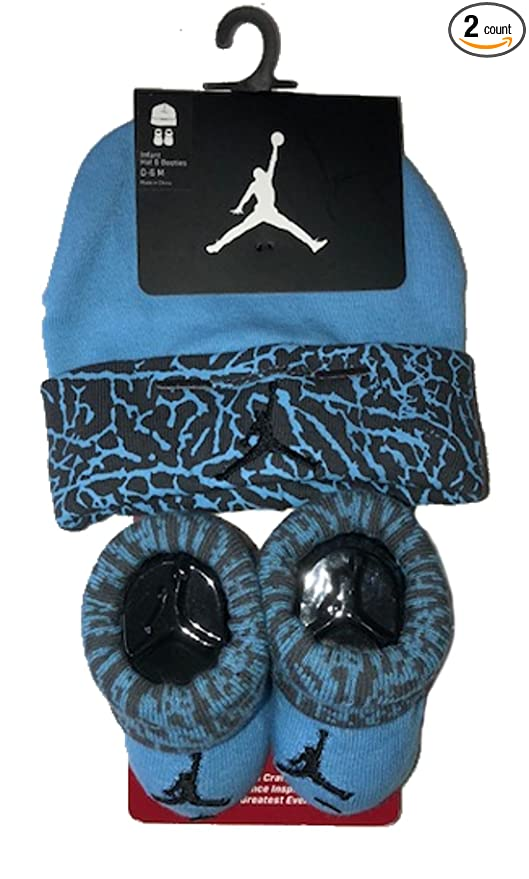 8fcb9efa999f Image Unavailable. Image not available for. Color  Nike Air Jordan Elephant  Print Hat   Booties Set ...