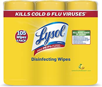Lysol 3-Packs of 35 Wipes Lemon & Lime Blossom Disinfecting Wipes