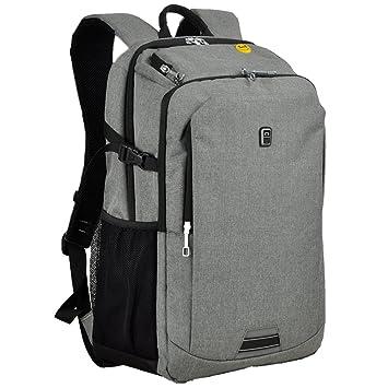 koolerpek impermeable negocios mochila para ordenador portátil de hasta 17 pulgadas gris gris: Amazon.es: Electrónica
