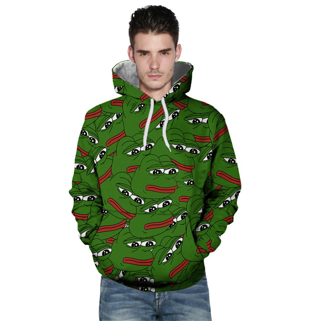 Pepe The Frog Print Hoodie Sweatshirt Unisex3D Hoodies Sweatshirts at Amazon Mens Clothing store:
