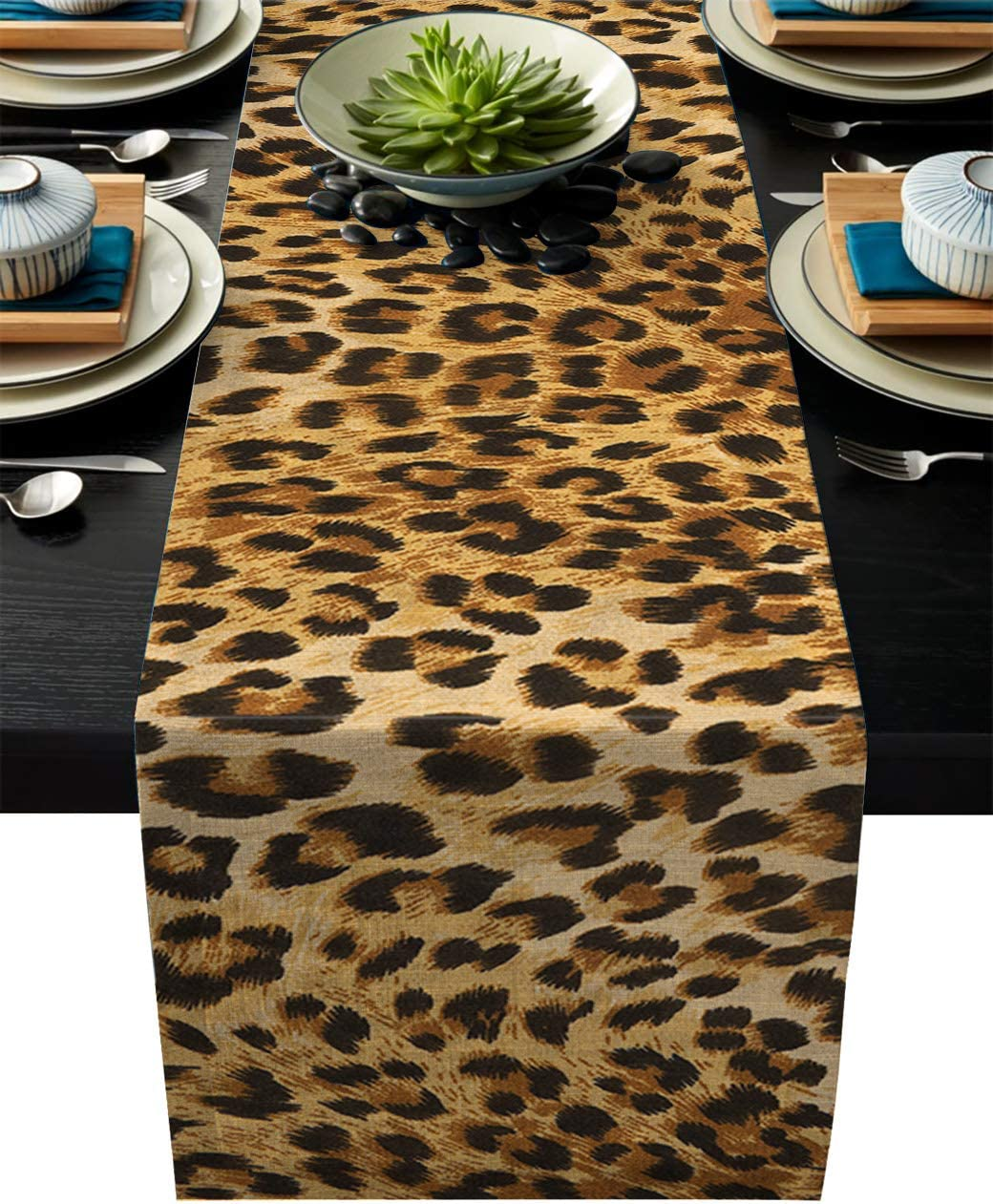 11-Inch by 6-Feet 1 Beistle 57848 Printed Leopard Print Table Runner