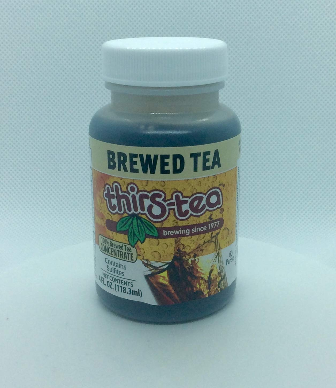 Thirs-Tea Brewed Tea | 4oz Bottle | Unsweetened | 3gal Yield | Caffeine Free