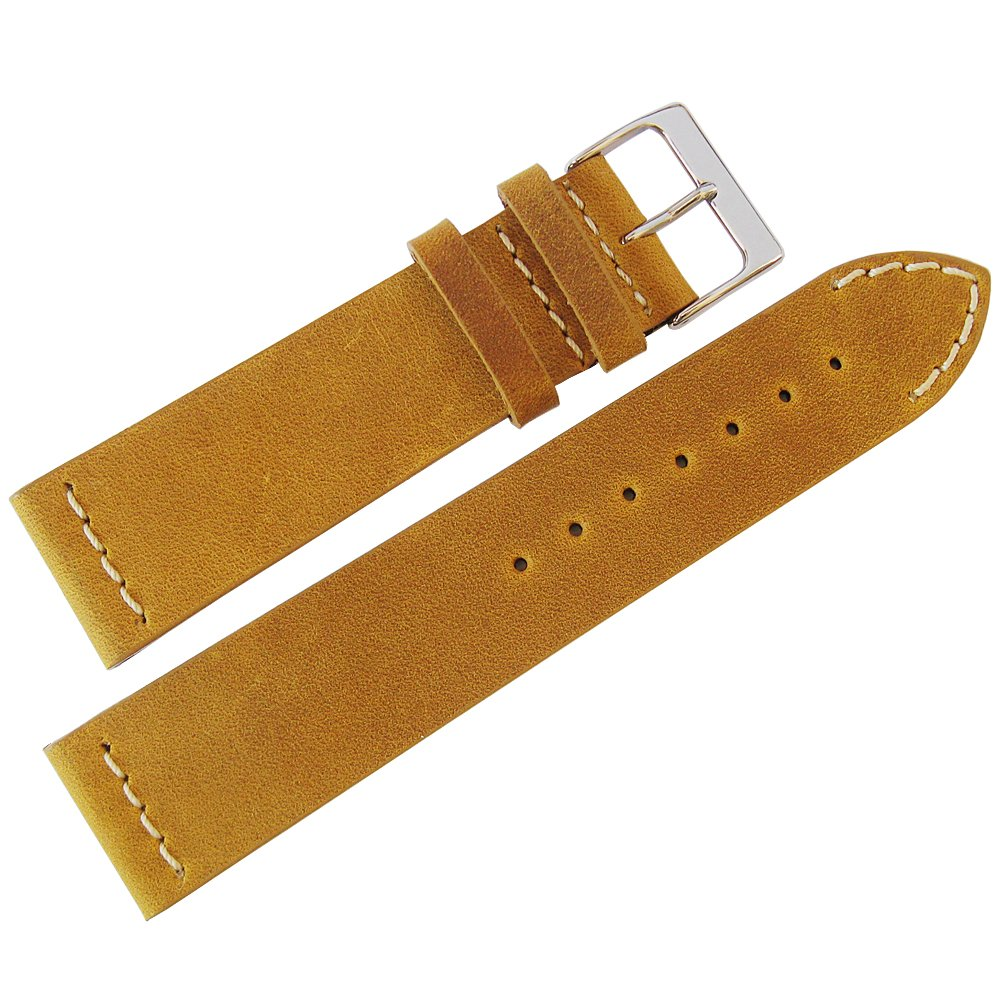 ColaReb 20mm Venezia Ocher Leather Watch Strap