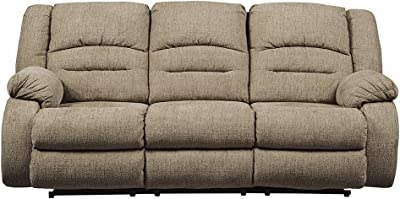 Signature Design by Ashley 8140315 Labarre Power Reclining Sofa, Mocha