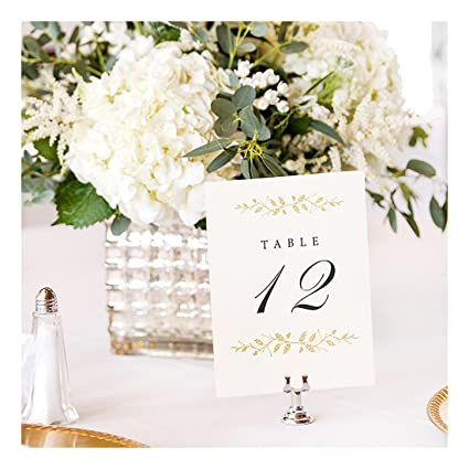 Amazoncom Wedding Table Numbers Elegant 112 Double Sided Pearl