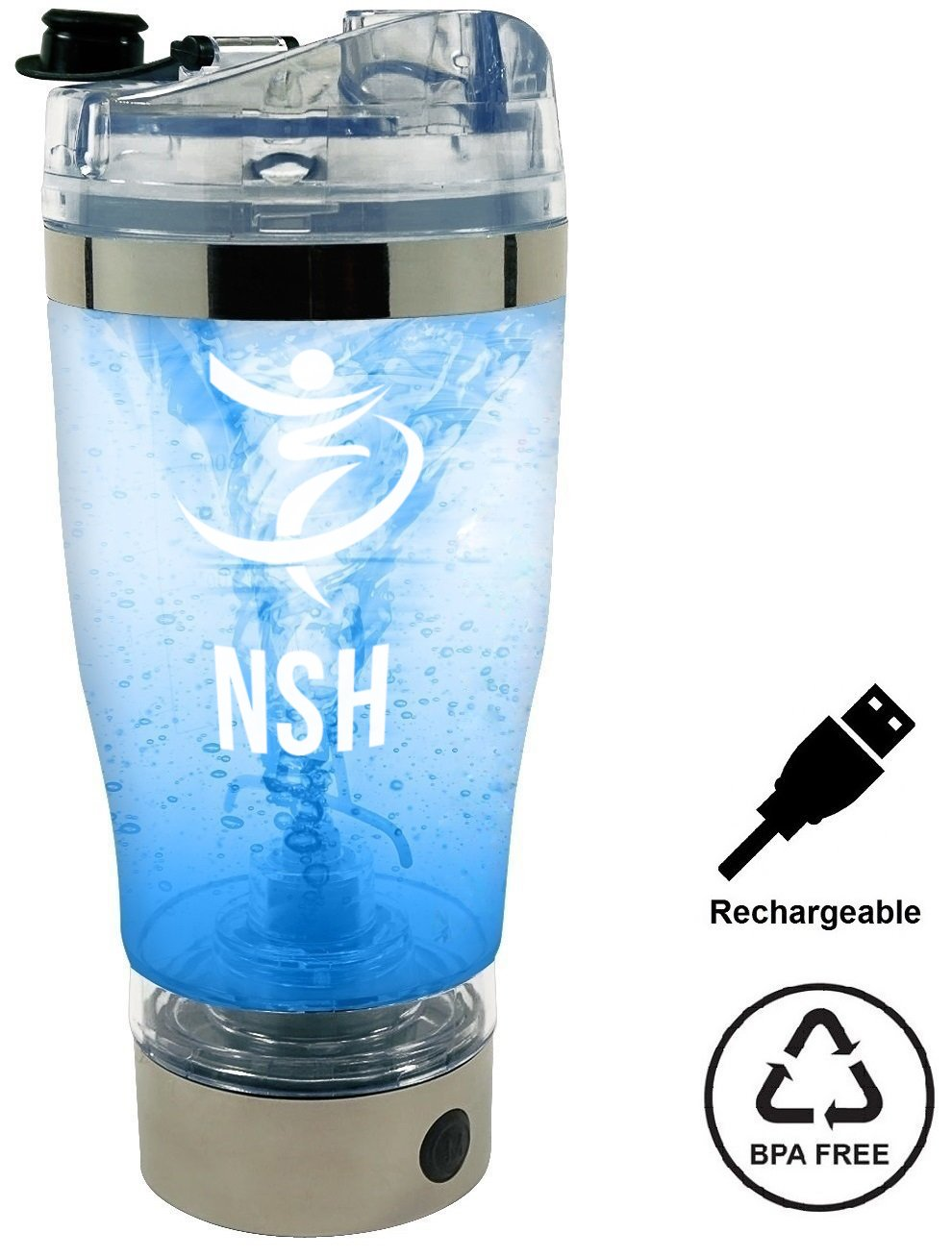 NSH Portable Vortex Mixer Battery Operated Powerful USB Rechargeable BPA Free