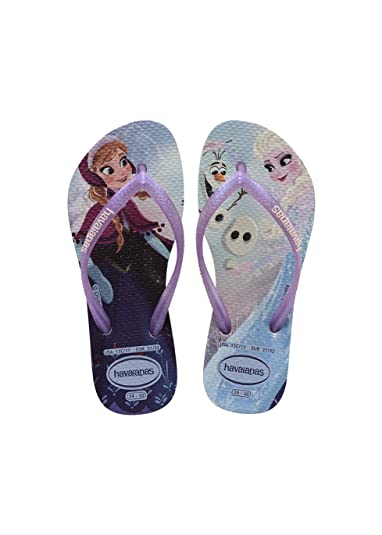 87852a91c30e5 Havaianas Printed Flip Flops Girls Slim Frozen: Amazon.co.uk: Shoes ...