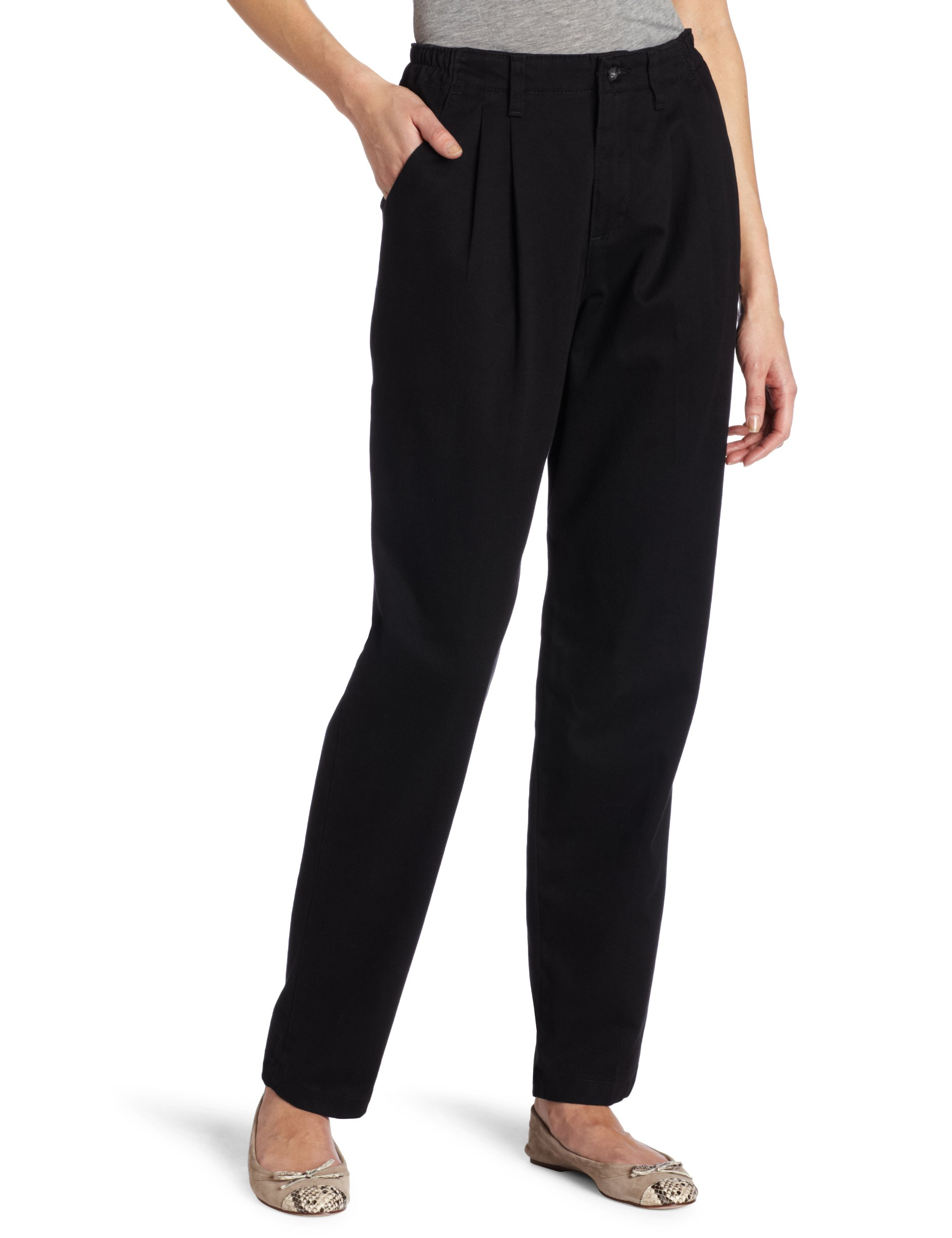 Lee Women's Relaxed-Fit Pleated Pant