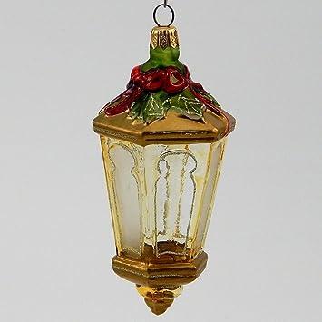 Dicken de farol - polaco adorno de Navidad de cristal soplado: Amazon.es: Hogar