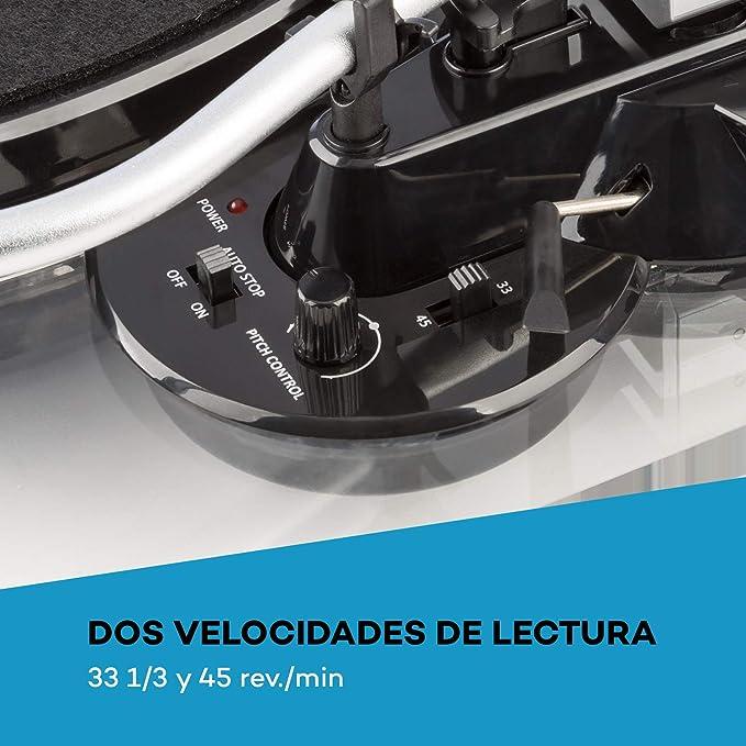 auna TT-Pure Tocadiscos con preamplificador: Amazon.es: Electrónica