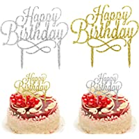 Kissral Happy Birthday Cake Topper, Decoración para Tartas