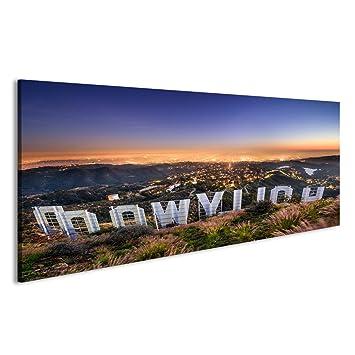 islandburner Cuadro Cuadros LOS ÁNGELES, California - Febrero 29: El Letrero de Hollywood Vistas a Los Un Impresión sobre Lienzo - Formato Grande - Cuadros ...