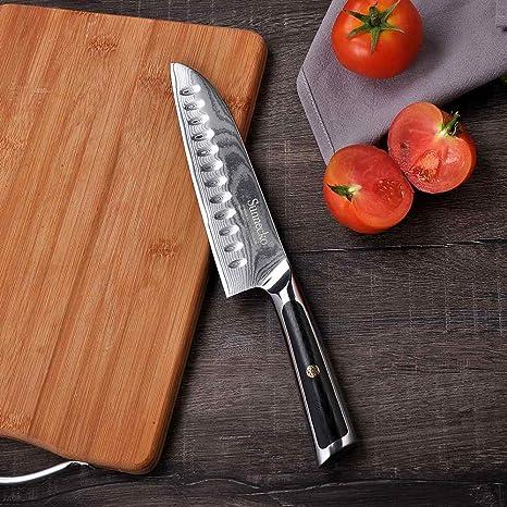 Amazon.com: SUNNECKO Damasco Cuchillos de cocina japoneses ...