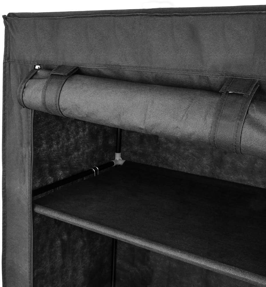 PrimeMatik Armadio Guardaroba in Acciaio Tessuto 70 x 45 x 155 cm Grigio