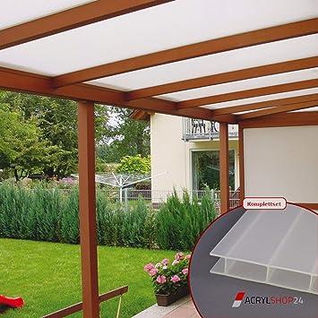 ACRYLSHOP24 - Set completo de techo para terraza de cristal ...