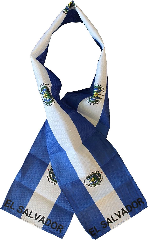 Lightweight Flag Scarf El Salvador