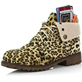 DailyShoes Women's Combat Style up Sweater Top Ankle Bootie with Pocket for Credit Card Knife Money Wallet Pocket Boots