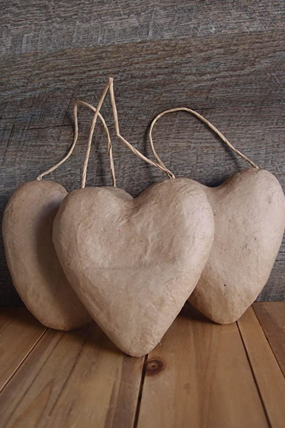 Corein.dinations Paper Mache Puffy Heart 5.5in. Bulk Buy 6-Pack