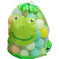 iBaste Bolsa para juguetes de playa, bolsa para juguetes de playa, grande, plegable, de malla, para guardar juguetes
