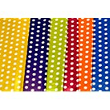 Satyam kraft (Pack of 10) 28 * 19 inches Gift Wrapping Paper with Free 10 Tags Envelope Making,Card Making, Christmas, Family and Your Loved Ones Chrismas (10 Polka dot Paper)